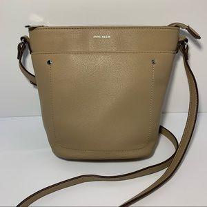 NWOT Anne Klein Vegan Leather Crossbody Bucket Bag